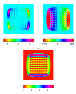 A fast solver for the Stokes equations with distributed forces in complex geometries