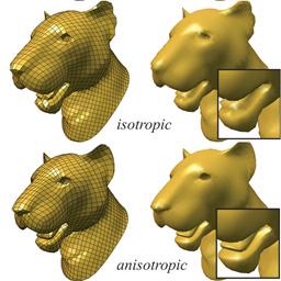 Anisotropic quadrangulation