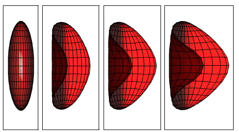 Boundary Integral Method for the Flow of Vesicles with Viscosity Contrast in Three Dimensions
