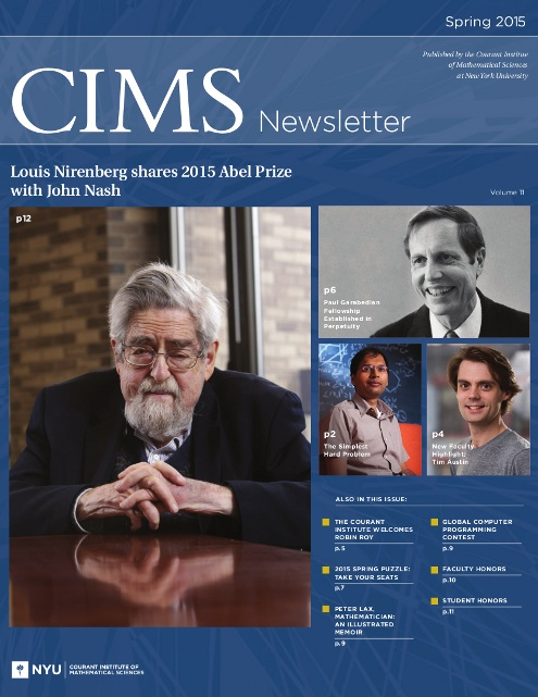 Spring 2015 CIMS Newsletter