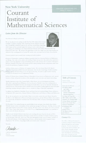 New Year 2005 Newsletter